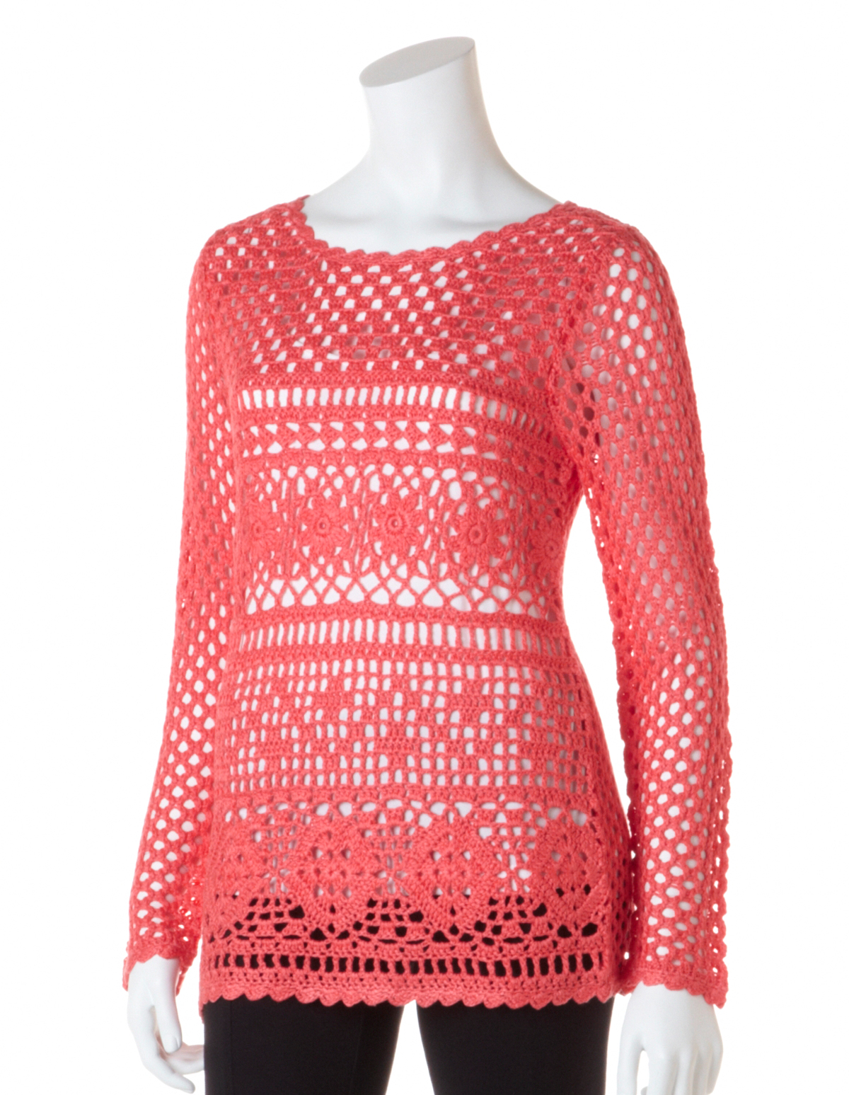 Papaya Crochet Pullover Sweater | Cleo