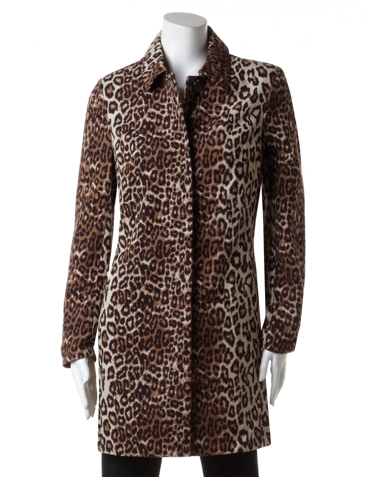 If you want a leopard-print coat with a little more edge, a wide notch collar gives this one a cool moto feel. Plus, the faux fur is a way cozier option than your go-to leather jacket. Advertisement - .