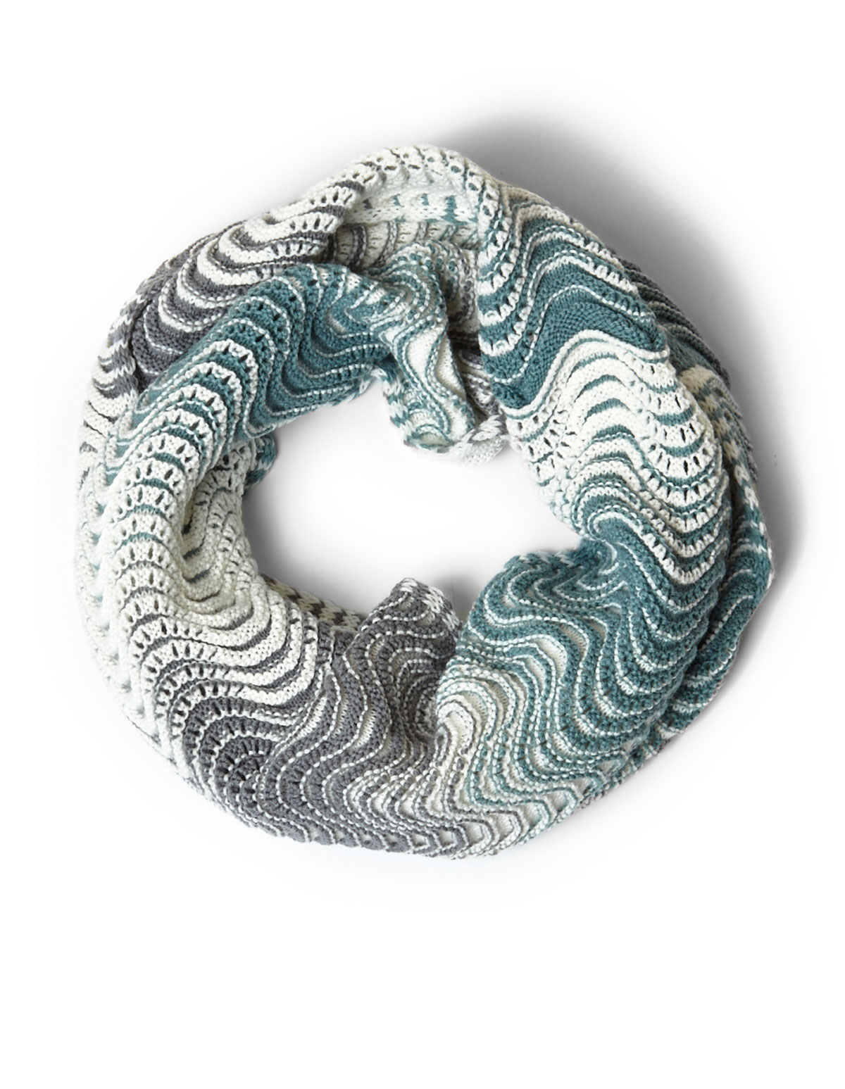 Mint Knit Loop Infinity Scarf | Cleo