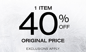 One Item 40% off