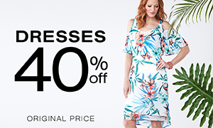 Dresses 40% off original price