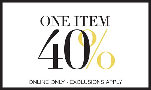 One item 40% off