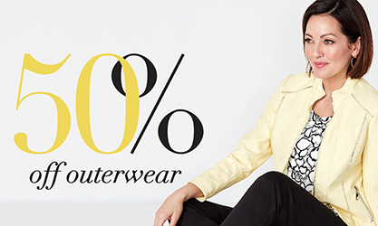 Outerwear 50% off