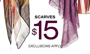 $15 Scarves