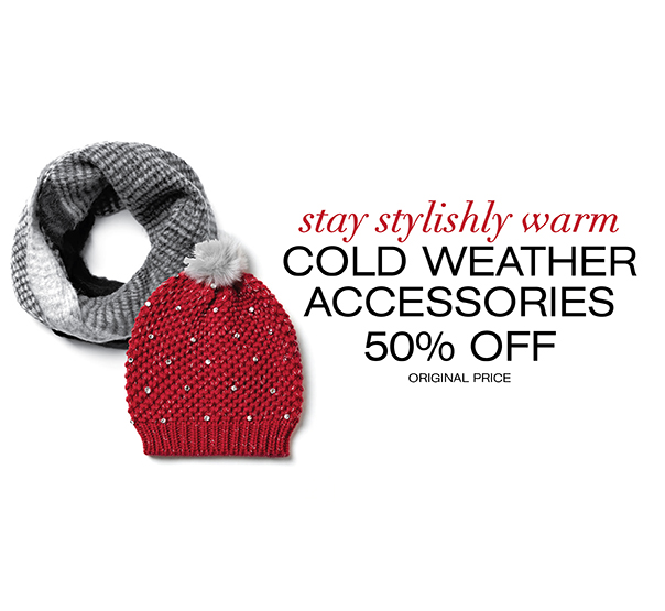 cold weather accessories category page