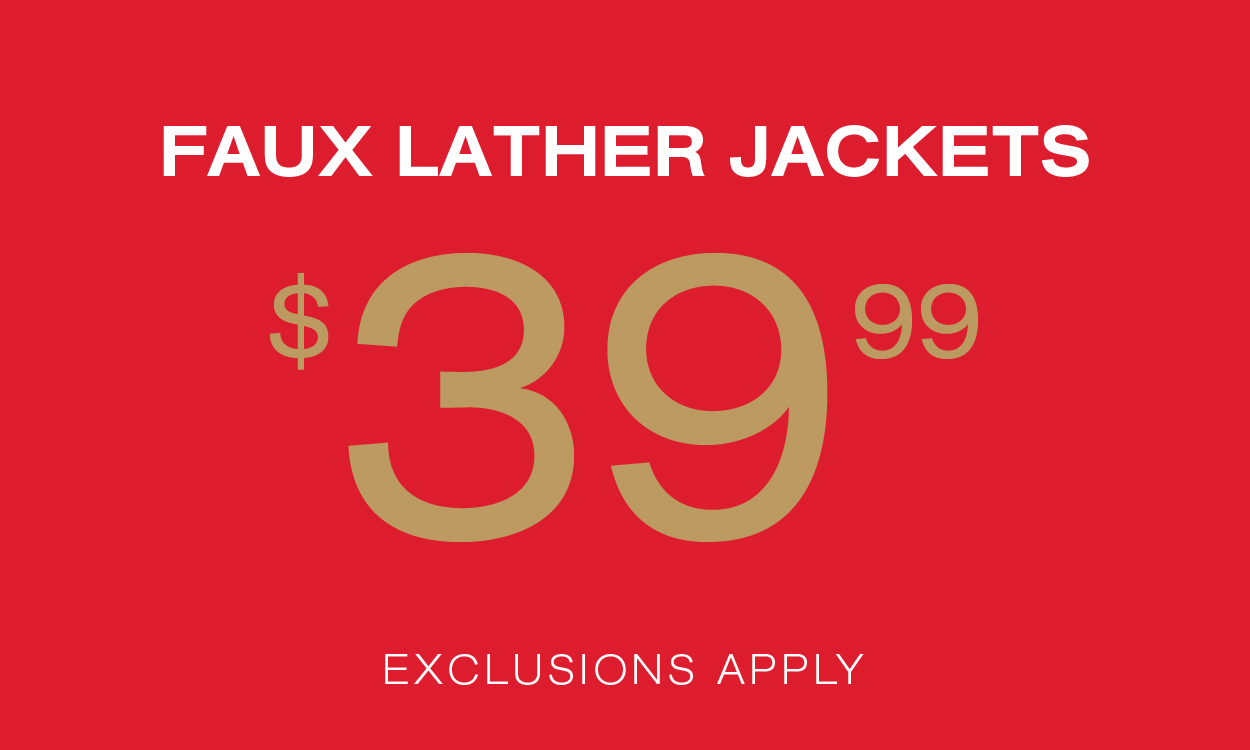 $39.99 Faux Leather Jackets