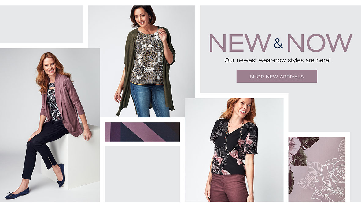 New and now. Our newest wear now styles are here!