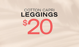 Cotton Capri Leggings $20