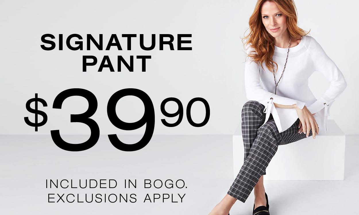 $39.90 Signature Pant