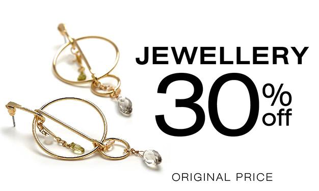 Jewellery 30% off