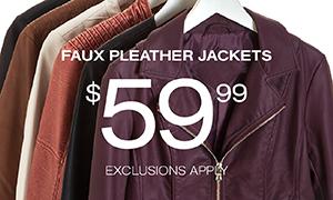 Faux Pleather Jackets $59.99