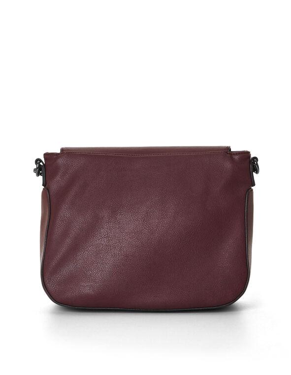 Burgundy Cross Body Bag, Burgundy, hi-res