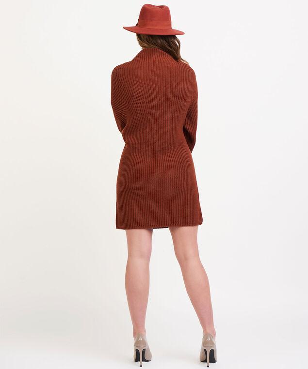 Dex Black Tape Sweater Dress, Rustwood