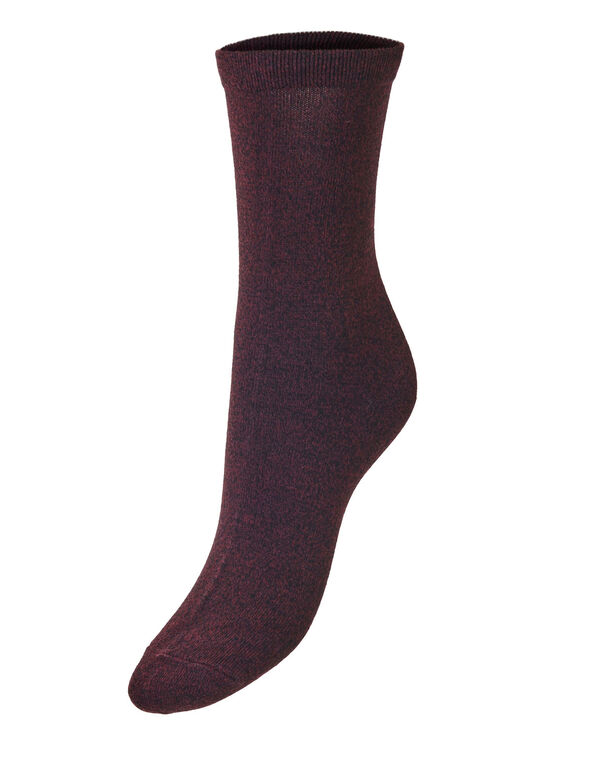 Burgundy Crew Sock, Burgundy, hi-res