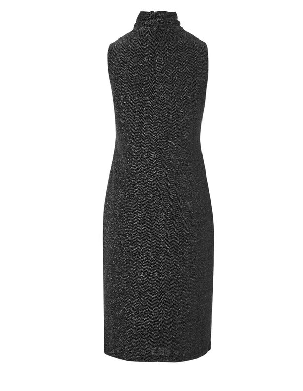 Silver Ruched Sheath Dress, Silver, hi-res