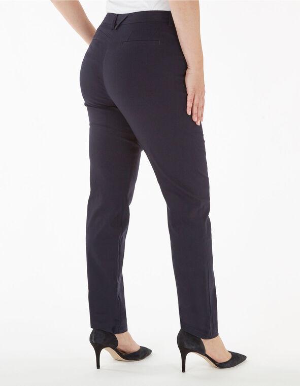 Navy Long Butt Lift Slim Pant, Navy, hi-res
