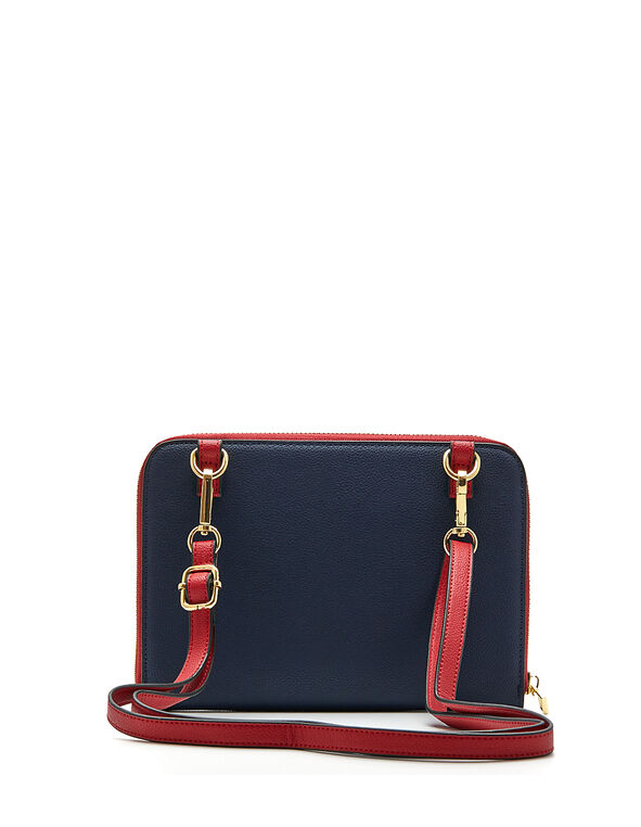 Colour Block Crossbody Bag, Navy, hi-res
