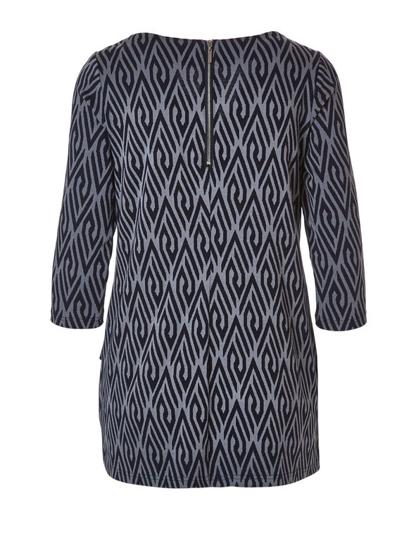 Navy Printed Tunic Top, Navy, hi-res