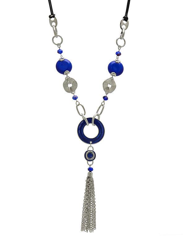Cobalt Pendant Long Necklace, Cobalt, hi-res