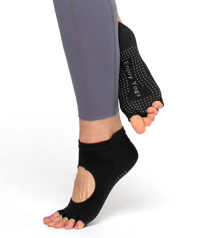 Toeless Anti-Slip Yoga Sock, Black