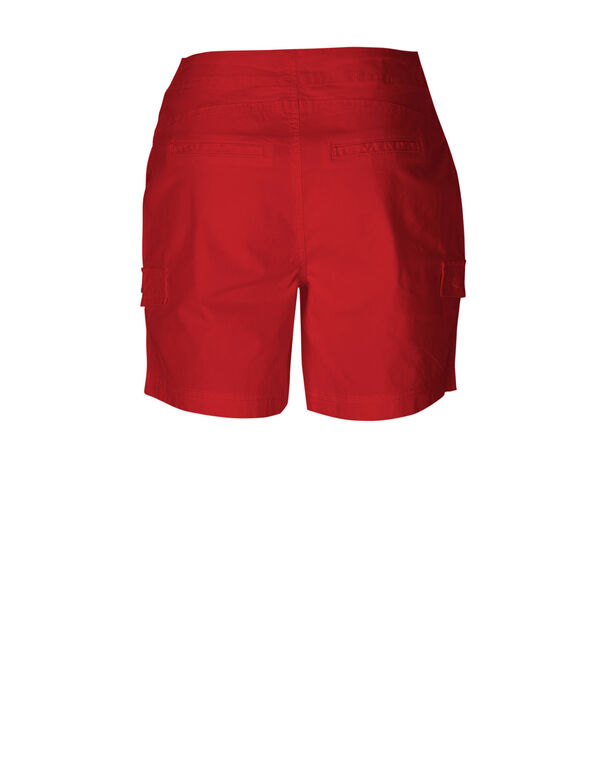 Red Cotton Short, Red, hi-res