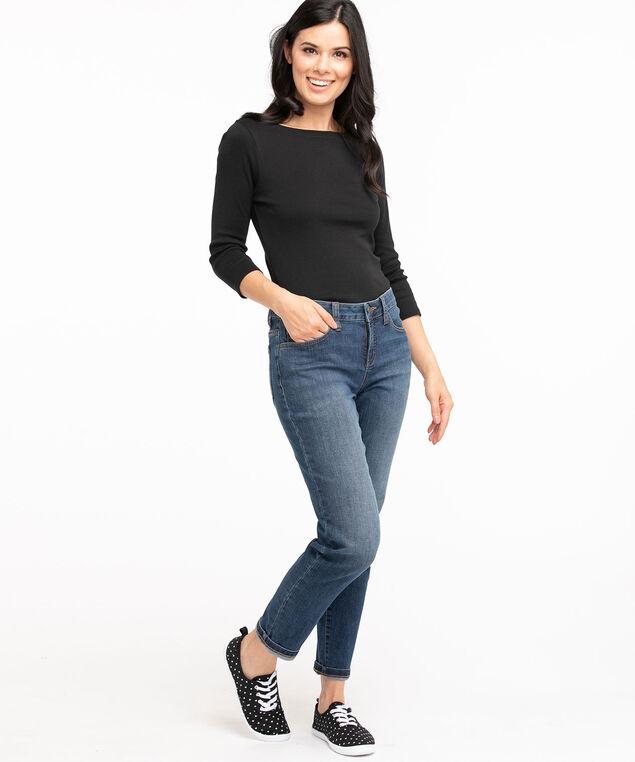 Low Impact Slim Leg Jean, Mid Wash
