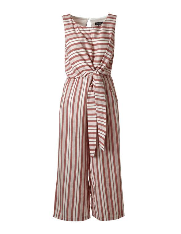 Rose Striped Jumpsuit, Rose/Ivory, hi-res