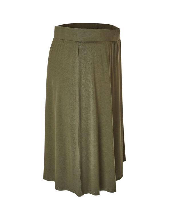Olive Pull-On Skirt, Olive, hi-res