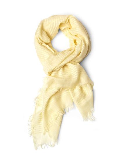 Yellow Lurex Striped Scarf, Yellow, hi-res
