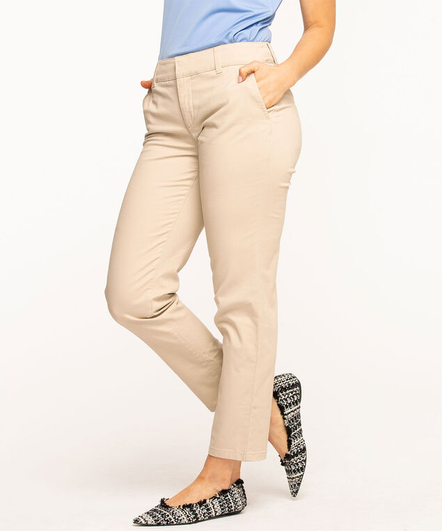 Slim Chino Ankle Pant, Stone