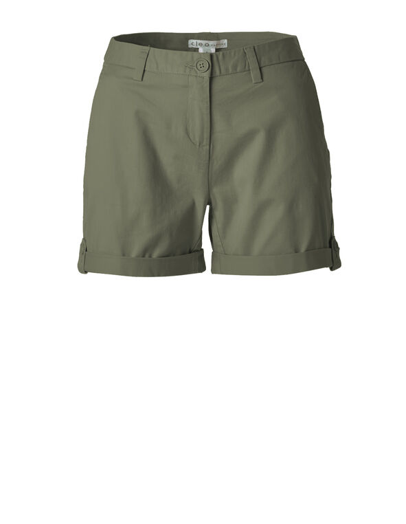 Summer Olive Cotton Short, Summer Olive, hi-res