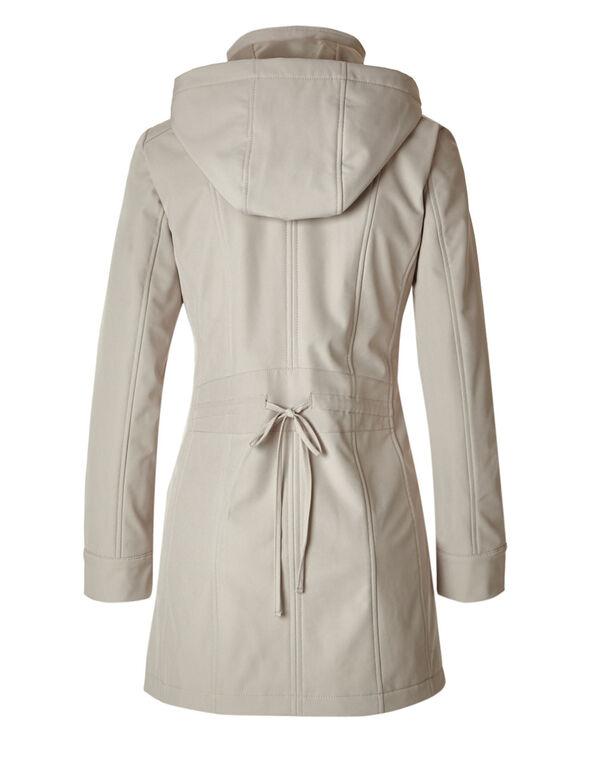 Stone Softshell Hooded Jacket, Stone, hi-res