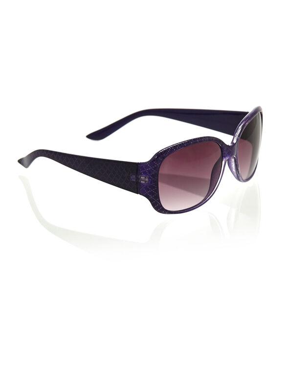 Purple Patterned Sunglasses, Purple, hi-res