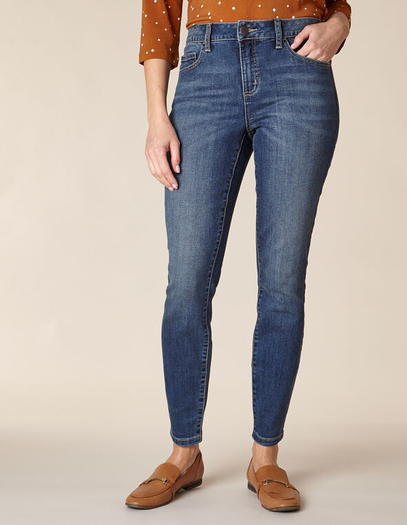 Mid Wash Skinny Jean, Denim, hi-res