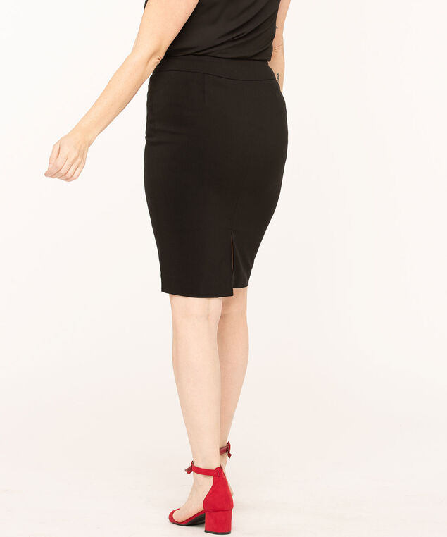 Black Signature Pull On Skirt, Black, hi-res