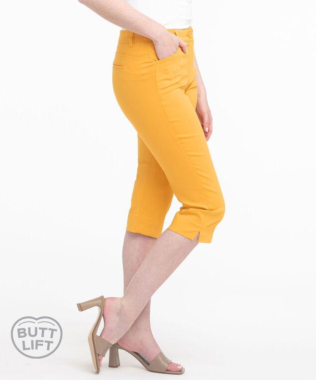 Gold Butt Lift Slim Capri, Gold