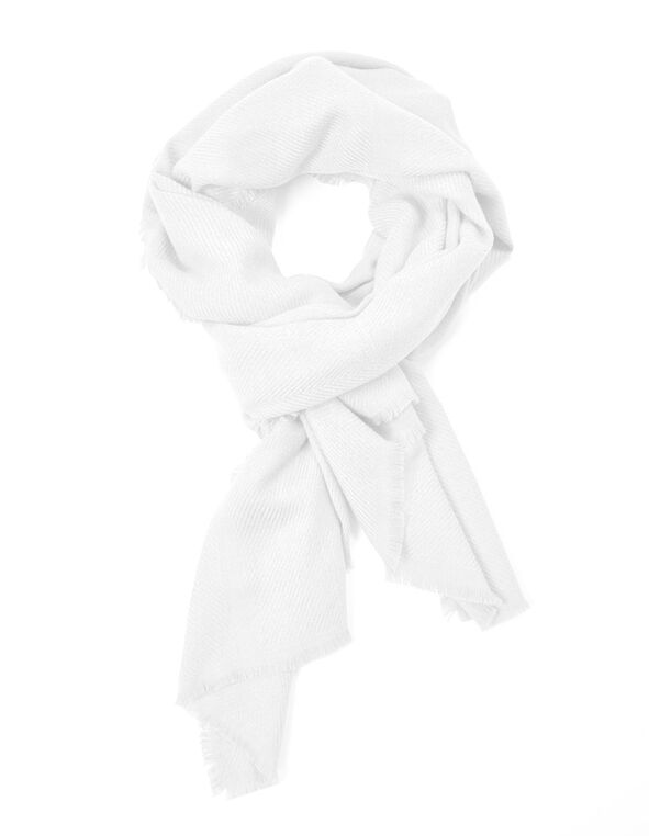 Ivory Super Soft Oblong Scarf, Ivory, hi-res