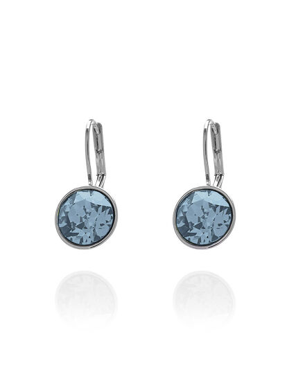 Blue Genuine Crystal Earring, Blue, hi-res