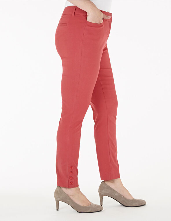 Grapefruit Slim Leg Ankle Pant, Pink, hi-res