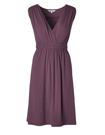 Purple Fit & Flare Dress, Purple, hi-res