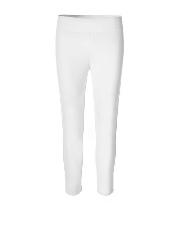 White Cotton Capri, White, hi-res