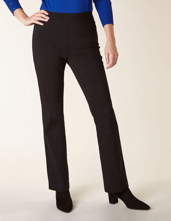 Black Pull On Bootcut Pant, Black