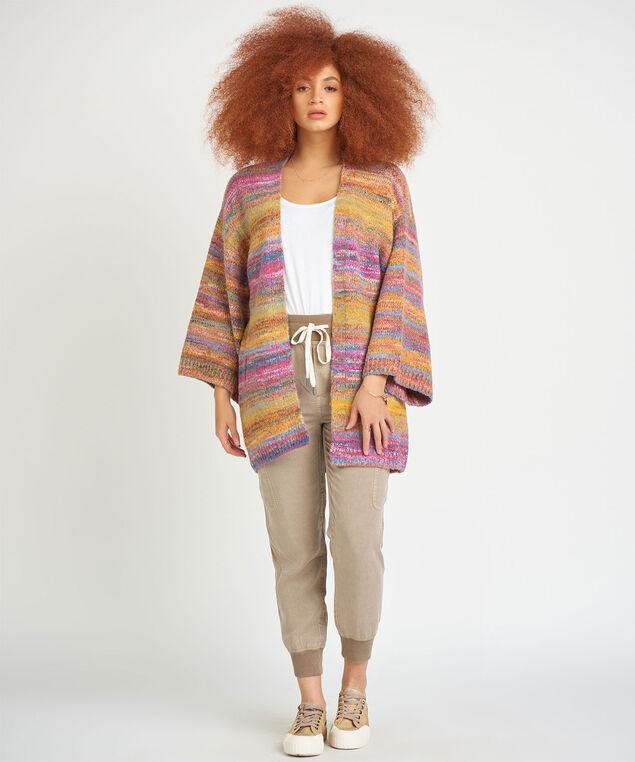 Dex Kimono Sleeve Space Dye Cardigan, Multi Space Dye