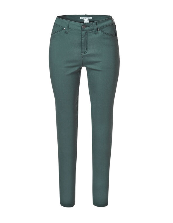 Dark Teal Zip Slim Leg Jean, Dark Teal, hi-res