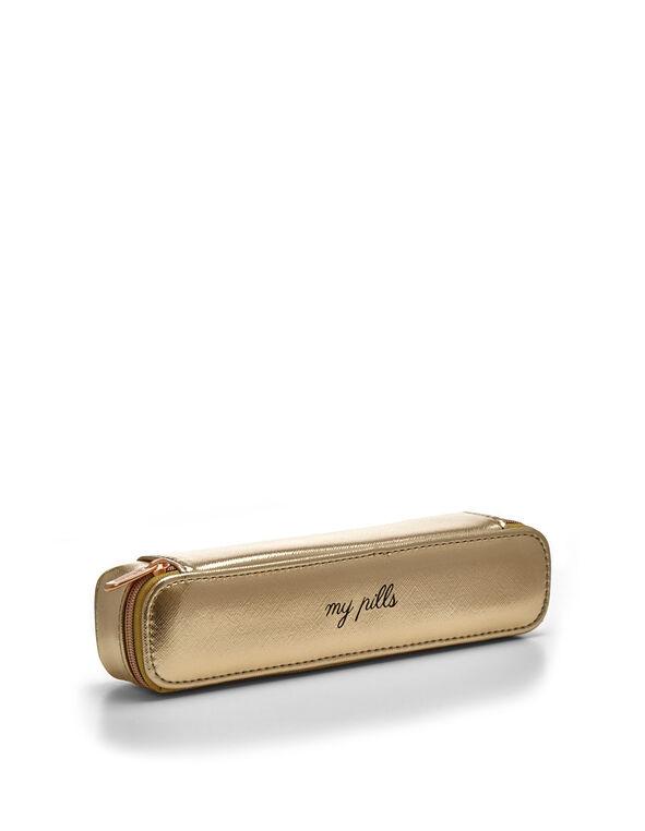 Gold Pill Case, Gold, hi-res