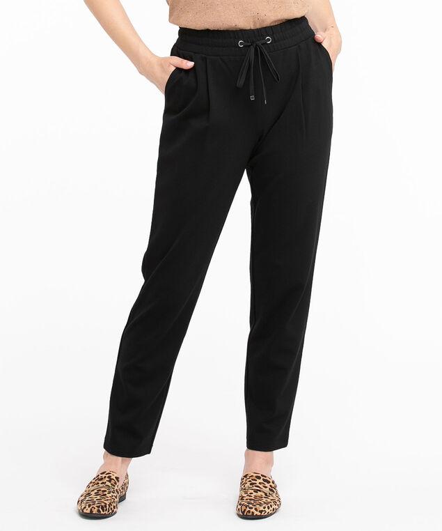 Jacquard Knit Jogger Pant, Black