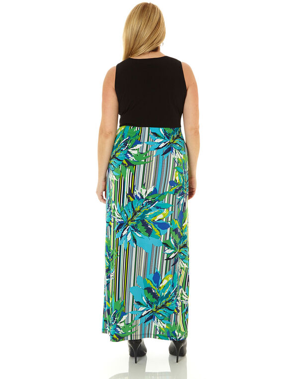 Gren Floral Maxi Dress, Green, hi-res
