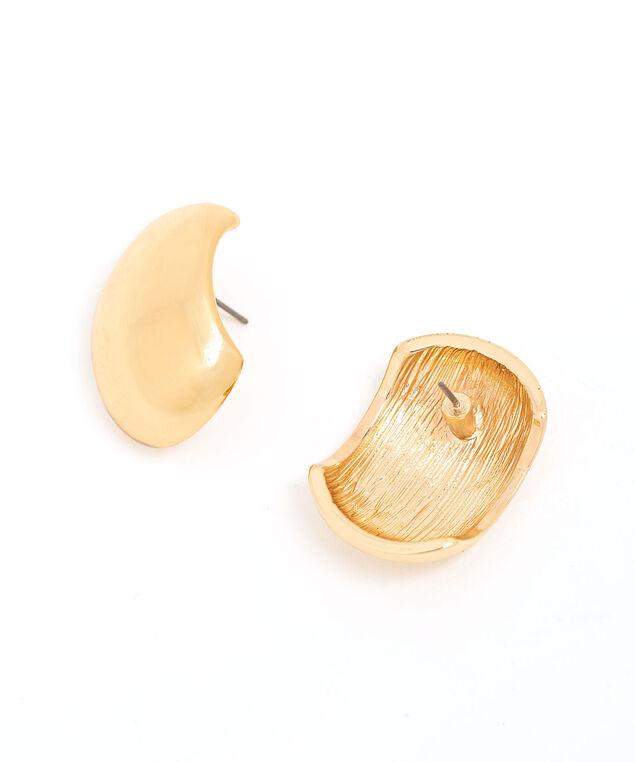 Big Gold Stud Earring, Gold
