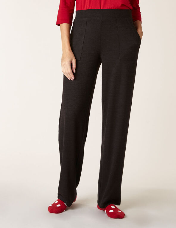 Black Hacchi Straight Leg Pant, Black, hi-res