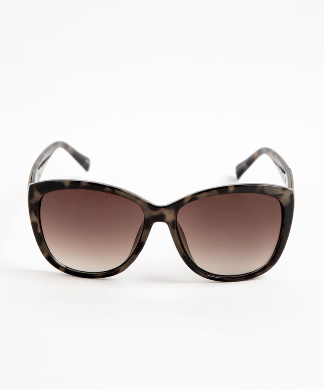 Large Bronze Tortoise Shell Sunglasses, Brown/Bronze